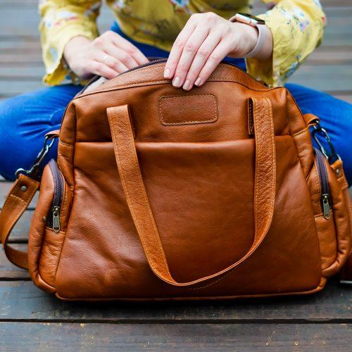 Maribu Leather Daisy Nappy Bag