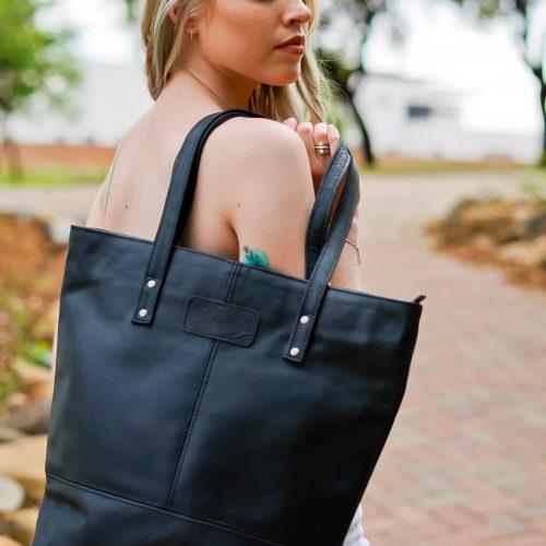 Maribu Leather Stephanie Shopper Tote