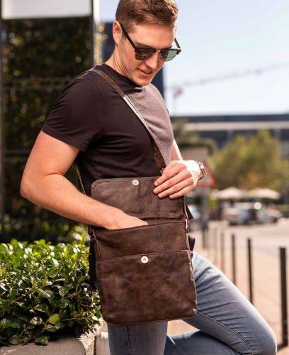 maribu leather bob bag