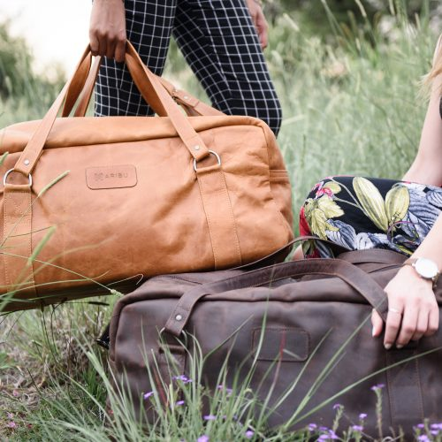 maribu leather travel bag