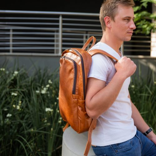 Maribu Leather Laptop Backpack
